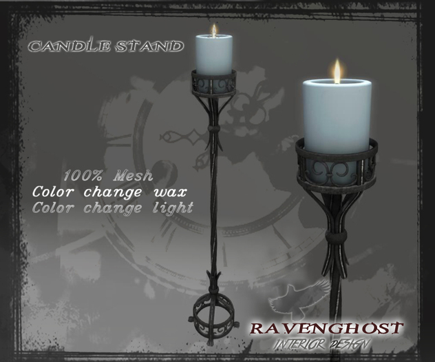 Floor Candle Stand in Iron & Silver (3 PRIMS) COPY