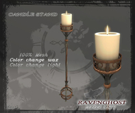 Candle Stand in Nickle & Rust (3 PRIMS) COPY