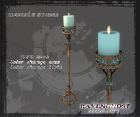 Candle Stand Iron & Oxidized Bronze (3 PRIMS) COPY