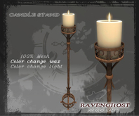 Candle Stand in Rust Iron (3 PRIMS) COPY