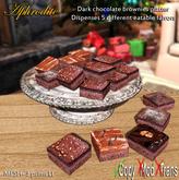 Aphrodite chocolate brownies dispenser platter