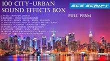 * SCS SCRIPT - 100 CITY - URBAN SOUND EFFECTS New Box - full perm
