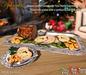 Aphrodite cold turkey platter- Christmas or Thanskgiving turkey dinner!