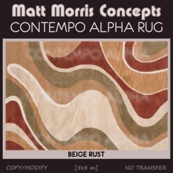 Mmc Contempo Alpha Rug Beige Rust