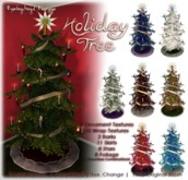 [DDD] Holiday Tree -  2 prims/LI, Mesh, & Texture Change