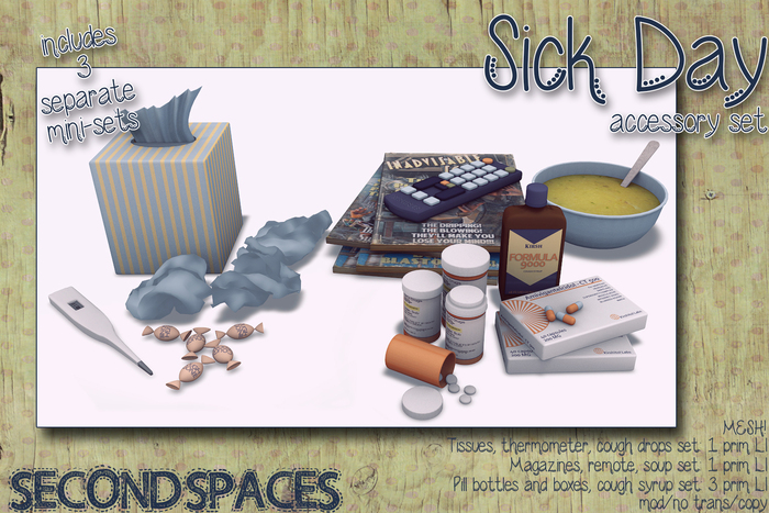 *Second Spaces* Sick Day accessory set (bxd1)