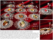 Aphrodite Christmas placemate & Thanksgiving placemate