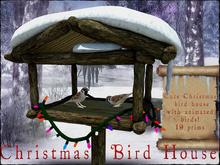 Boudoir Christmas -Animated Christmas Bird House