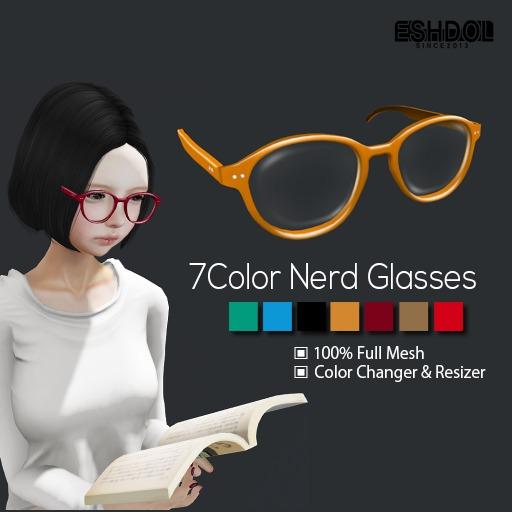 Meshdol-7 Color Nerd Glasses (Color Changer & Resizer )