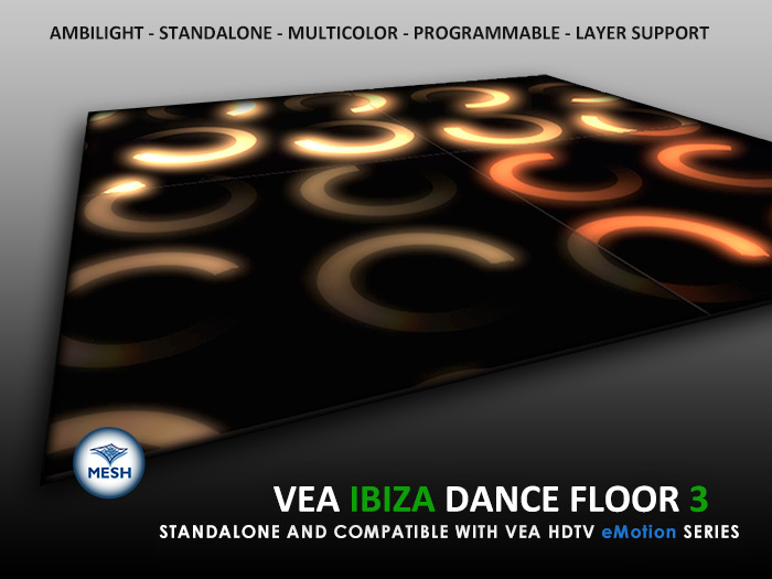VEA IBIZA Dance Floor 3 - Standalone - VEA 3 HDTV eMotion - Programmable - Effects - Transitions
