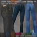 R(S)W - Plain Pocket Jeans: Gold Thread Fat pack