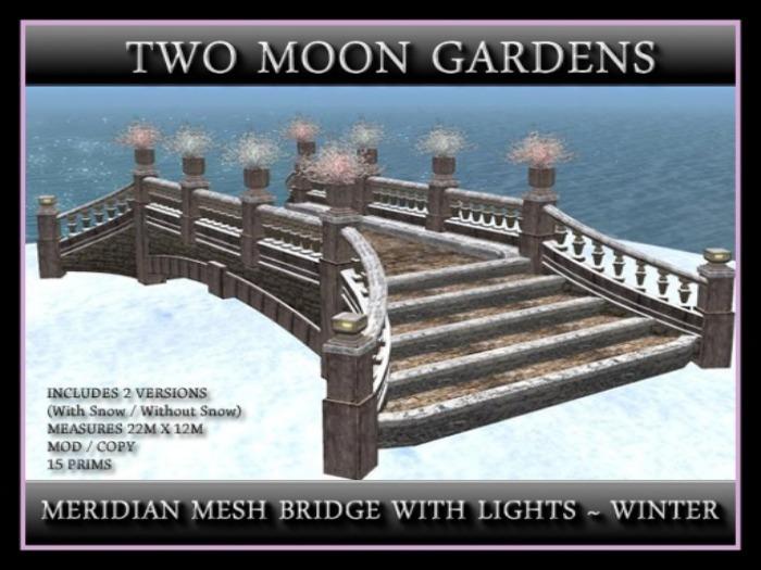MERIDIAN MESH BRIDGE WITH LIGHTS - WINTER