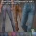 R(S)W - Worn Jeans: Tan Thread Fat pack