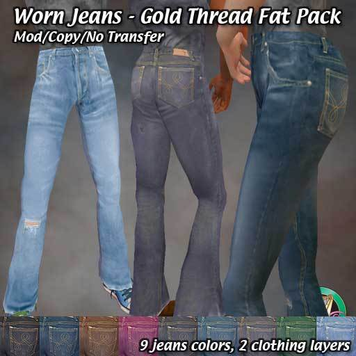 R(S)W - Worn Jeans: Gold Thread Fat pack
