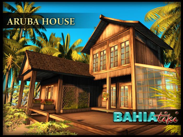 Bahia Tiki- Aruba House: Beach Tropical Prefab
