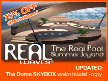 The Real Pool complete + beach skybox prefab with swimming pool