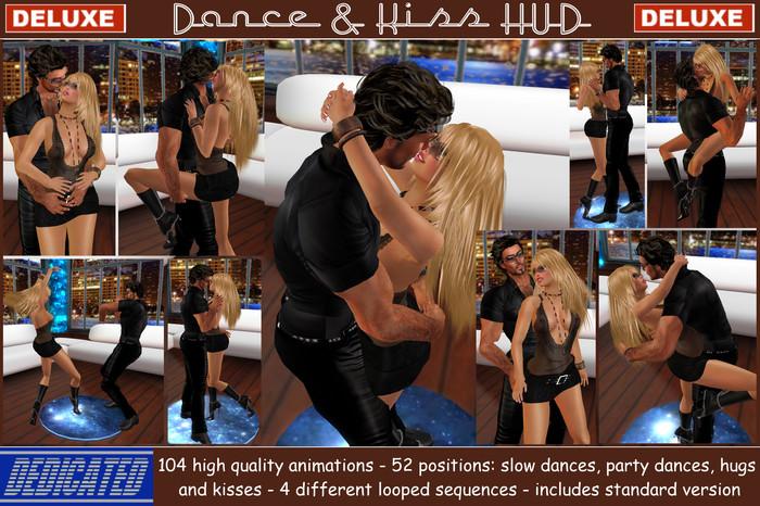 ! NEW ! Dance & Kiss HUD *DELUXE* - 52 couple slow & party dances , hugs & kisses , 4 looped sequences