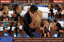 ! NEW ! Dance & Kiss HUD *DELUXE* - 52 couple slow & party dances , hugs & kisses , 4 looped sequences