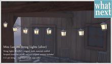 {what next} Mini Lantern String Lights - silver (mesh)