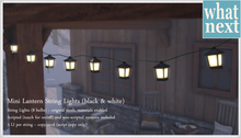 {what next} Mini Lantern String Lights - black/white (mesh)