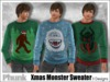 [Phunk] Mesh Men's Monster Christmas Crew Sweater (3 Designs)