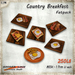 [Ginger Line] Country Breakfast - Fatpack of 6 Eggs & Bacon Breakfast classic recipes on wooden dishes