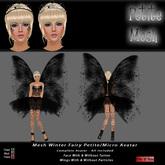 *SPECIAL WINTER OFFER* Mesh Petite Fairy Avatar  - Black