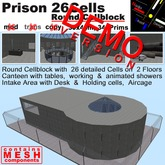 DEMO - Prison with 26 Cells in a round Cellblock