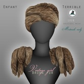 .Enfant Terrible. Vintage girl Furs Brown