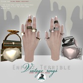 .Enfant Terrible. Vintage girl rings