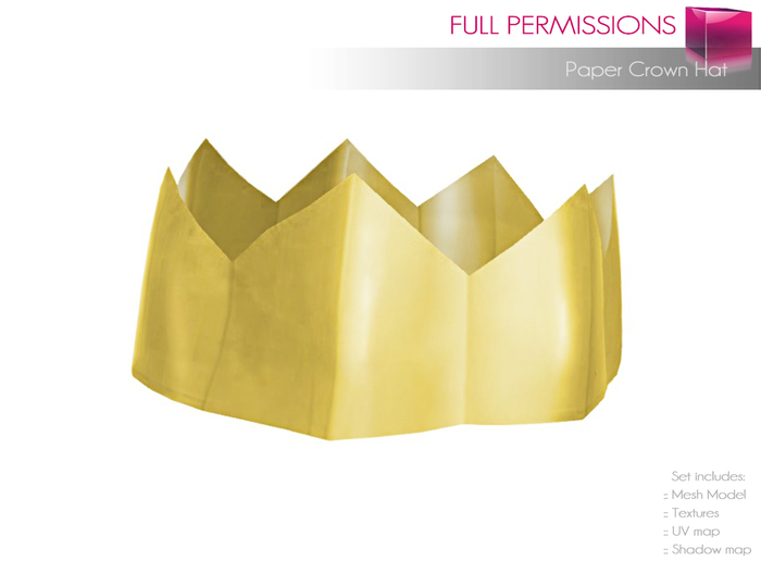Full Perm Mesh Paper Crown Hat
