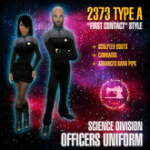 "Starfleet ""First Contact"" (2373) SCIENCES uniform + boots [MiS]"