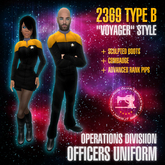 "Starfleet ""Voyager"" (2369) OPERATIONS uniform + boots [MiS]"