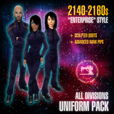 "Starfleet ""Enterprise"" (2140) ALL DIVISIONS uniform pack + boots [MiS]"