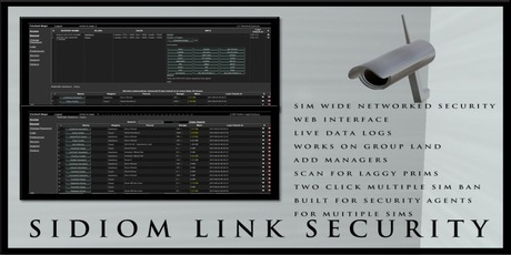 SIDIOM LINK SECURITY SYSTEM  (NETWORKED)