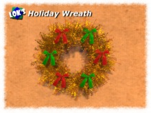 Lok's Holiday Wreath - Yellow with Ribbons Copy Version