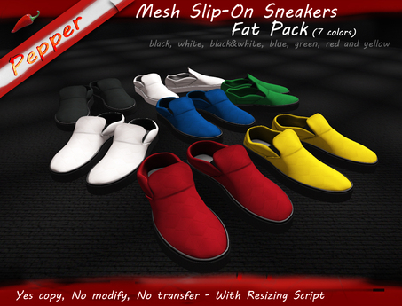 ~Pepper Slip On Sneakers *FAT PACK 7 COLORS*