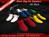 Slip on sneakers pt all black