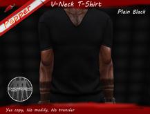 ~Pepper~V-Neck T-Shirt *Plain Black*