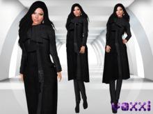 .::voxxi::. [Donna] Mesh Coat Black