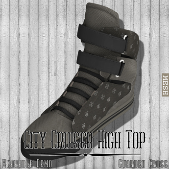 * Guarded Cross * City Cruiser High Top *WEARABLE DEMO*
