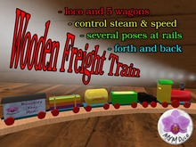 Wood Train - Freight Train