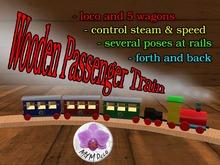 Wooden PassengerTrain
