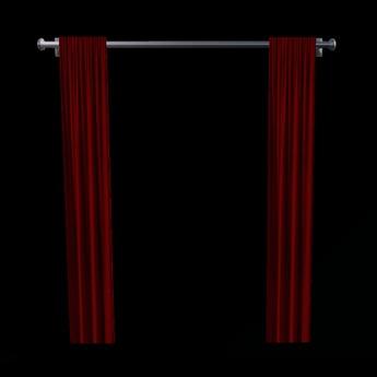 Animated curtain with curtain rail (modifiable)