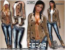 *DAFNIS ICIAR MESH OUTFIT WOMAN LEATHER