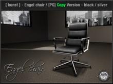 [ kunst ] - Engel chair / black - silver [PG] - Copyable (see details)