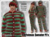 [Phunk] Mesh Christmas Sweater Pajamas