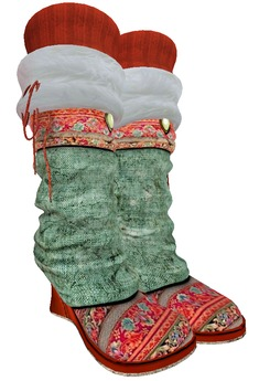 ALB CALIFORNIA DREAM boots christmas resizable MESH - by AnaLee Balut