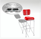 ACE Mesh 50s Bar Stool red