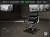 [ kunst ] - Engel chair / black - silver [PG] - Transfer